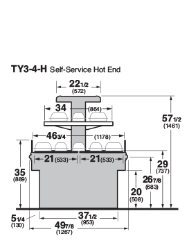 TY3-4-H Cross Section