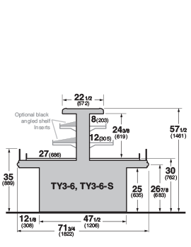 TY3-6, TY3-6-S Cross Section